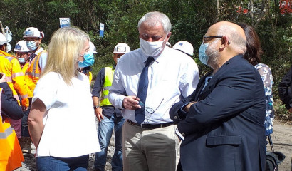 Discussions sur le chantier du Bras de la Plaine